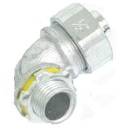 """Liquidtight Connector, 90°, 3/4"""", Non-Insulated, Malleable Iron"""