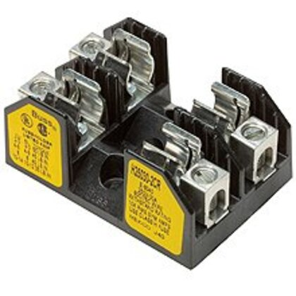 Class R Fuseblock, 3-Pole, 1/10-30A, 250V, Box Lug Terminal w/Clip *** Discontinued ***