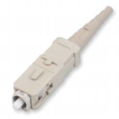 Connector, Multimode, Pre-Polished, Fiber Optic, SC, Beige