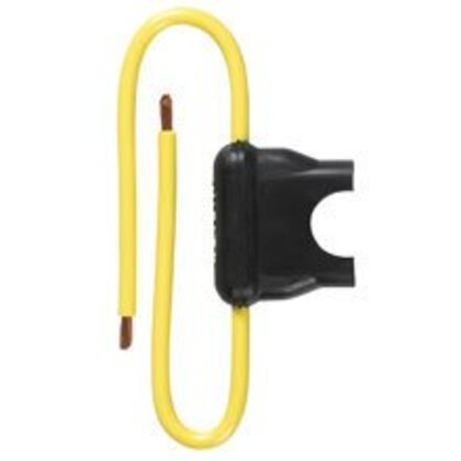 Automotive In-Line Fuse Holder for ATC Blade-Type Fuses, 3-20A, Yellow