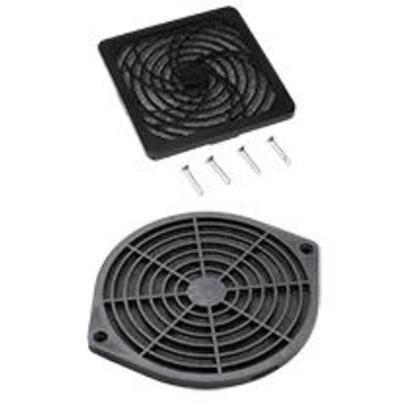"Fan Filter/Finger Guard Kit, Diameter: 4"", Non-Metallic"