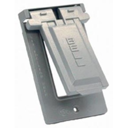 Weatherproof Box Cover, 1-Gang, Type: GFI, Material: Non-Metallic