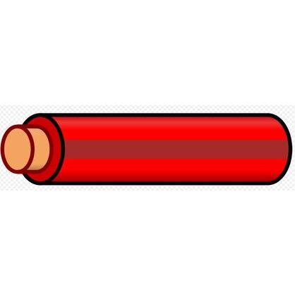 12 AWG THHN Stranded Copper, Red/Brown Stripe, 500'