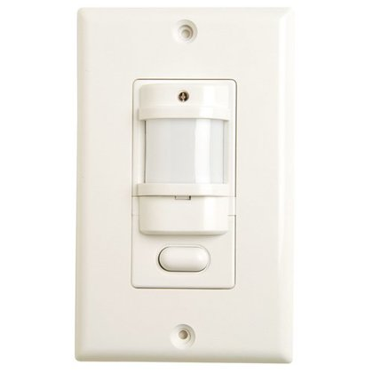 Occupancy Sensor, Infrared, Wall Mount, 180°, White