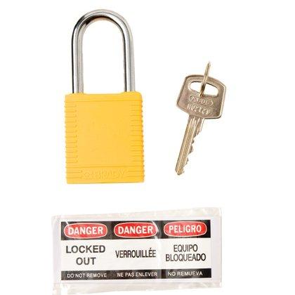 """Brady Safety Padlock 1.5"""" Kd Yel 1 Key"""