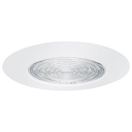 "Socket Supporting Metal Fresnel Shower Trim, 6"", White"