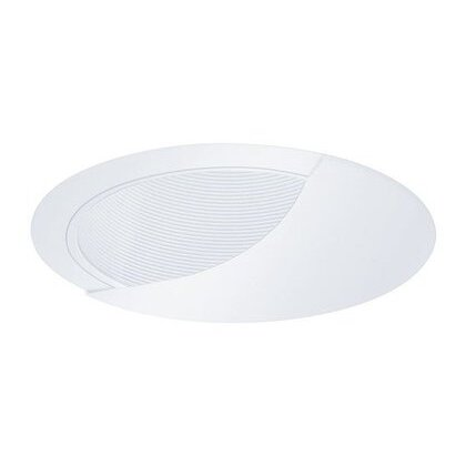 "Wall Wash Trim, w/ Baffle, 6"", White Baffle/White Trim"