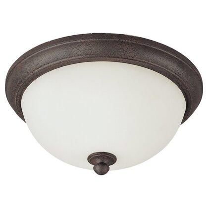 Ceiling Fixture, 2 Light, Peppercorn