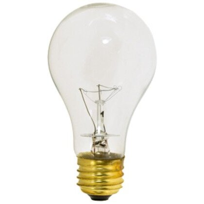 Incandescent Bulb, Rough Service, A19, 100W, 130V, Clear