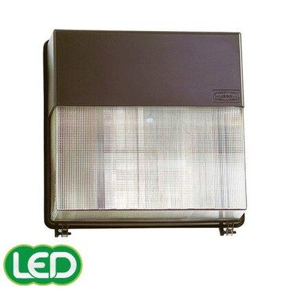 Wallpack, High Pressure Sodium, 1 Light, 150W, 120-277V, Bronze