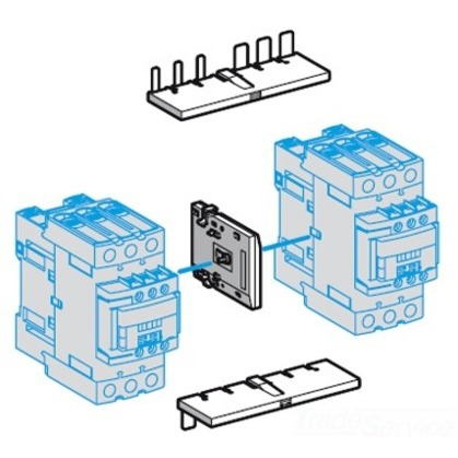 Contactor, Reversing Kit, w/o Electrical Interlocks, LC1D40 - D65A