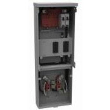 Temporary Power Unit, w/Meter, 125A, 240VAC, 6 Spaces