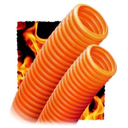 """Corrugated Plenum Innerduct, 1"""", Orange, 500' Reel, Pull Tape"""