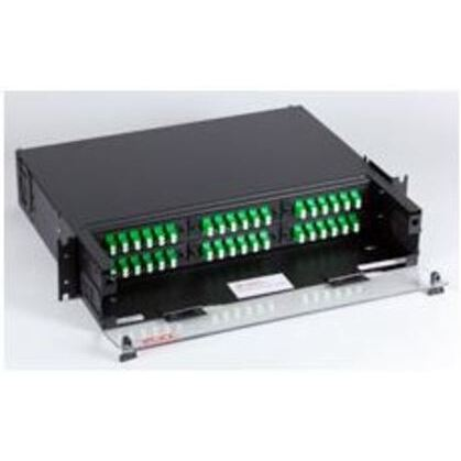 Cabinet, Rack Mount, 72 Port, 3RMU, 12 Adapter Plates, 72 Splice