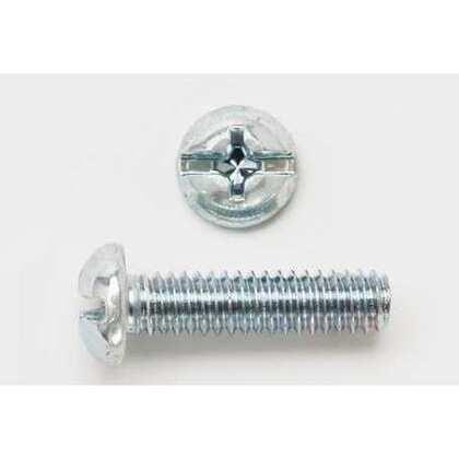 Machine Screw, Round Head, Slotted, 1/4-20 x 1/2, Stainless Steel, Jar of 100