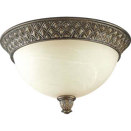 Close to Ceiling Light, 2 Light, 60W, Burnished Chestnut *** Discontinued ***
