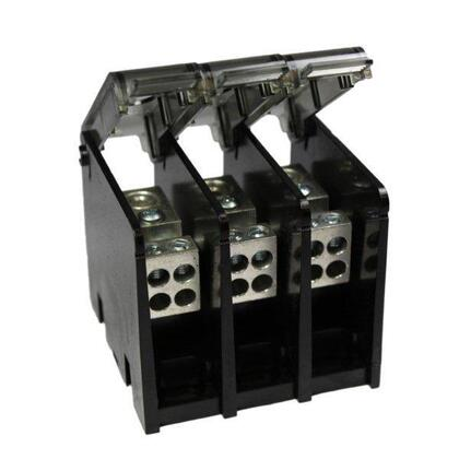 Power Distribution Block, 3-Pole, (2) Primary/Secondary, 14 - 2/0 AWG