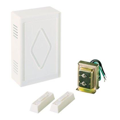 2-Entry Lit Chime Kit, 16V, White