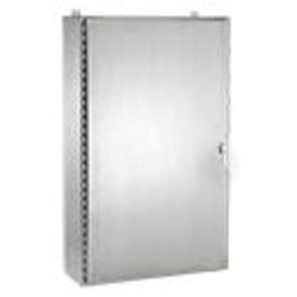 "Enclosure, NEMA 4X, Hinged Cover, Stainless Steel, 48"" x 36"" x 12"""