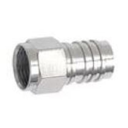 """RG6, F Connector, Crimp-On, F56ALM, 1/2"""" Ring"""