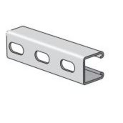 """Channel - Elongated Holes, Stainless Steel 304, 1-5/8"""" x 1-5/8"""" x 10'"""