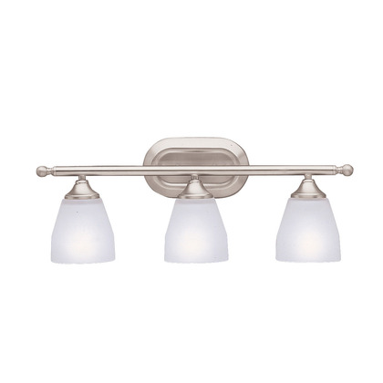 "3 Light Bath Light, 5.50"" Extension, Brushed Nickel Finish"
