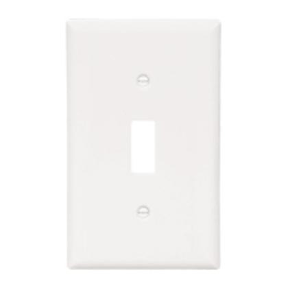 Toggle Switch Wallplate, 1-Gang, Nylon, Ivory
