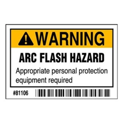Arc Flash Hazard Label