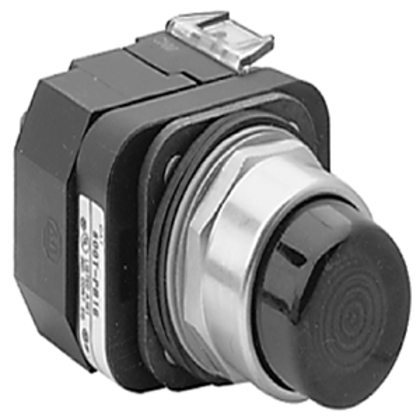 Pilot Light, Push to Test, 30mm, 24V AC/DC, White, NEMA 4/13