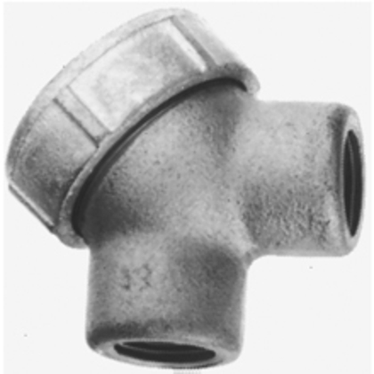 """Pulling Elbow, Capped, 90°, 1-1/2"""", Explosionproof, Malleable Iron"""