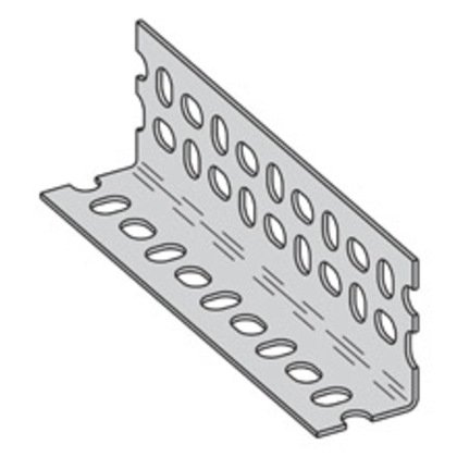"Slotted Angle, Steel, Zinc Plated, 14 Gauge, 1-5/8"" x 1-5/8"" x 10'"