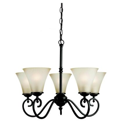 Chandelier, 5 Light, 100W, Heirloom Bronze