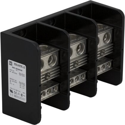 Power Distribution Block, 3-Pole, 760A, 14 AWG - 500 MCM