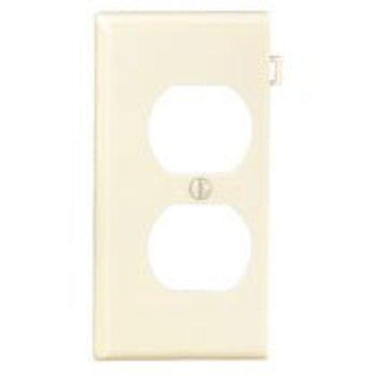 Sectional Wallplate, Duplex, End Section, Nylon, Light Almond