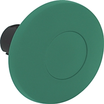 Push Button, 60mm Mushroom Head, Green, Momentary, Plastic