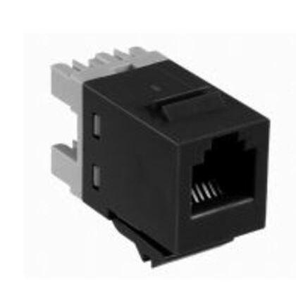 Snap-In Connector, SL110 Modular Jack, Unshielded, Cat 3, Black