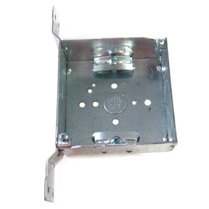 "4"" Square Box, Welded, Metallic, 1-1/2"" Deep , CV Bracket"
