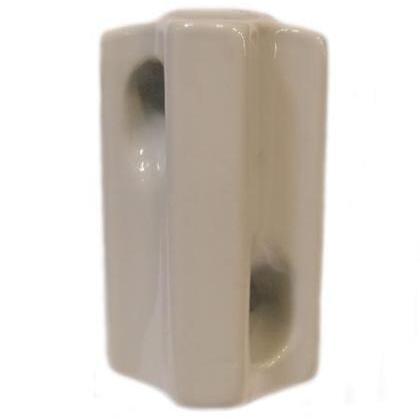 "Porcelain Insulator, Anbi: 54-1, Dia: 2-1/2"", L: 3-1/2"", Hole: 5/8"""