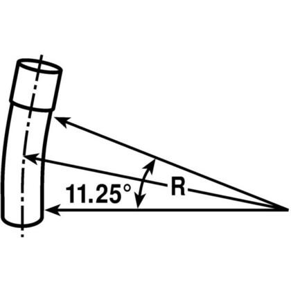 "4"" PVC Elbow, 11-1/4°, Schedule 40, Belled End, 48"" Radius"