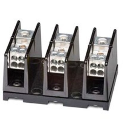 Power Distribution Block, High SCCR, 3P, 1 Primary/Multiple Secondary