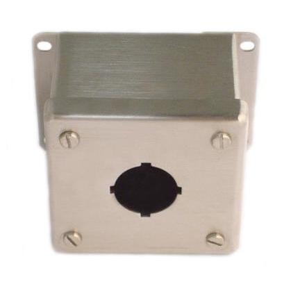 Enclosure, Pilot Device, 30 mm, 1 Hole, Stainless Steel, Type 12/13