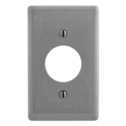 """WALLPLATE, 1-G, 1.40"""" OPNG, GY"""