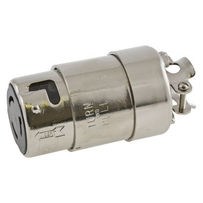 Locking Connector, Marine Grade, 50A, 125/250V, Galvanized