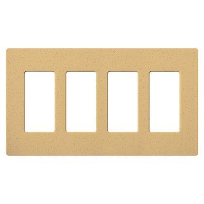 Dimmer/Fan Control Wallplate, 4-Gang, Goldstone