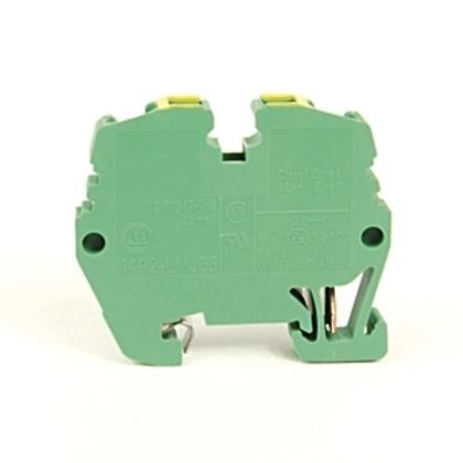 Terminal Block, Grounding, Green/Yellow, 26 - 12AWG, 2.5mm