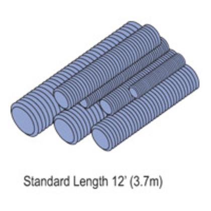 """All Threaded Rod, Zinc-Plated, 3/8"""" x 10'"""