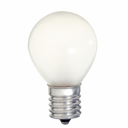 10 WATT S11 INCANDESCENT; FROST; 1500 AVERAGE RATED HOURS; 80 LUMENS; INTERMEDIATE BASE; 120 VOLTS