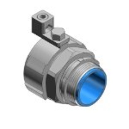 """Liquidtight Connector, Straight, 1-1/2"""", Grounding, Malleable, Insulated"""