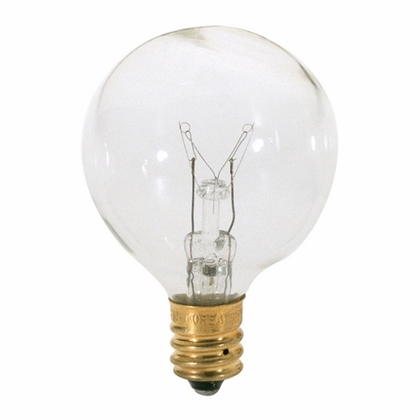 15 WATT G12 1/2 INCANDESCENT; CLEAR; 1500 AVERAGE RATED HOURS; 100 LUMENS; CANDELABRA BASE; 120 VOLTS