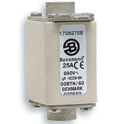 Fuse, 125 Amp Square Body DIN 43-653, 000, No Indicator, 690V/700V